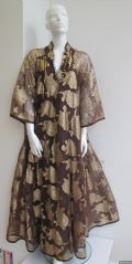 1970's Chocolate brown gold lame Paisley jacquard  vintage kaftan ***SOLD***